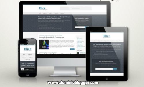 Elice Responsive para blogger