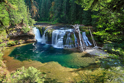Lower Lewis River Waterfalls Washington US