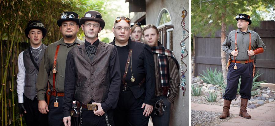 steampunk groomsmen