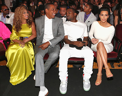 Beyonce, Jay-Z, Kanye and Kim Kardashian at BET Awards