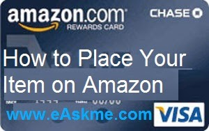 How to Place Your Item on Amazon : eAskme