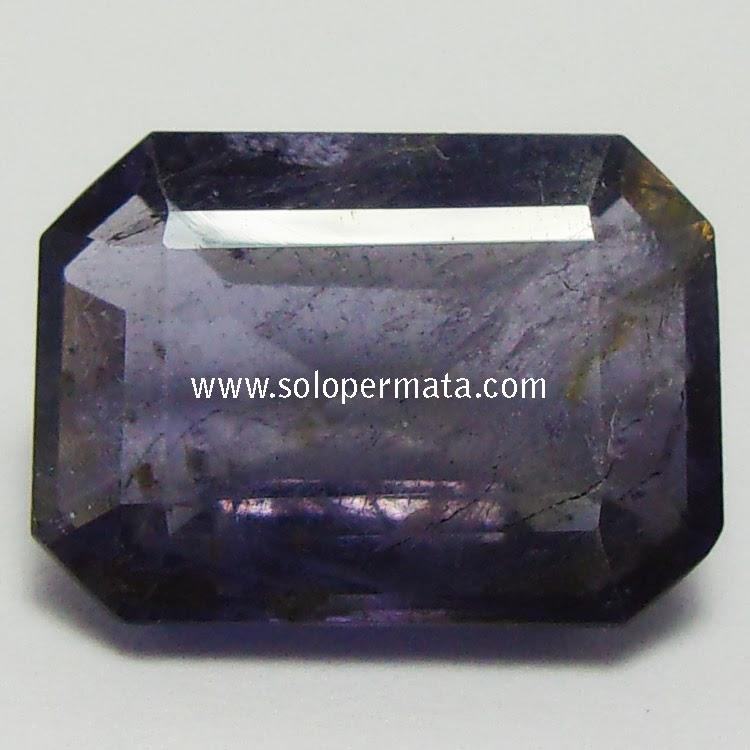 Batu Permata Iolite+memo - 02B14