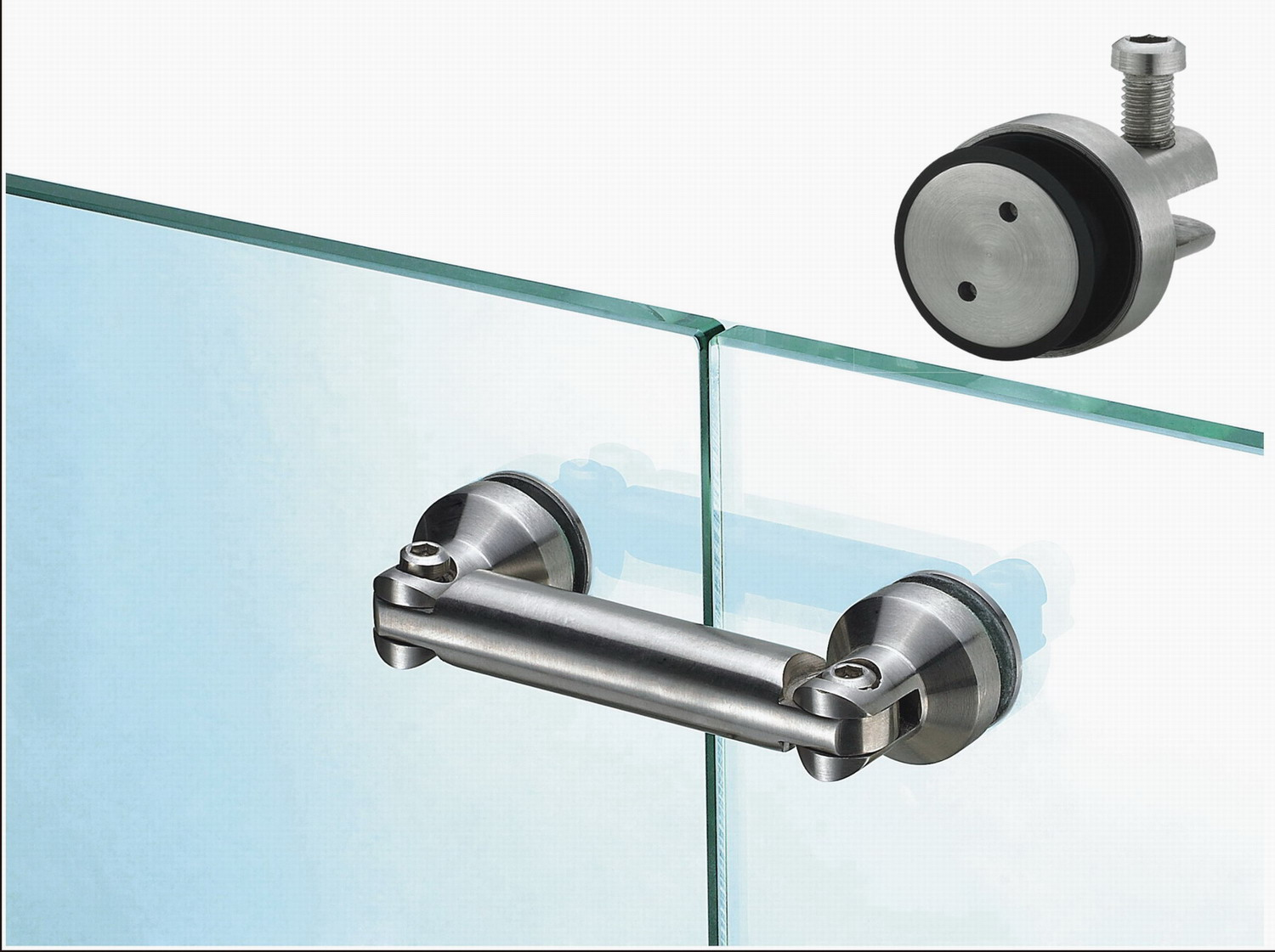 Stainless steel glass clamp for home finishing