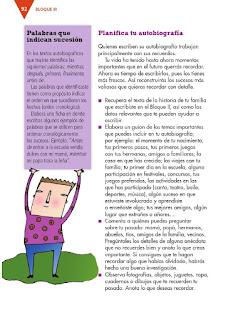 Apoyo Primaria Español 3er grado Bloque 3 lección 2 Práctica social del lenguaje 8, Escribir un relato autobiográfico para compartir