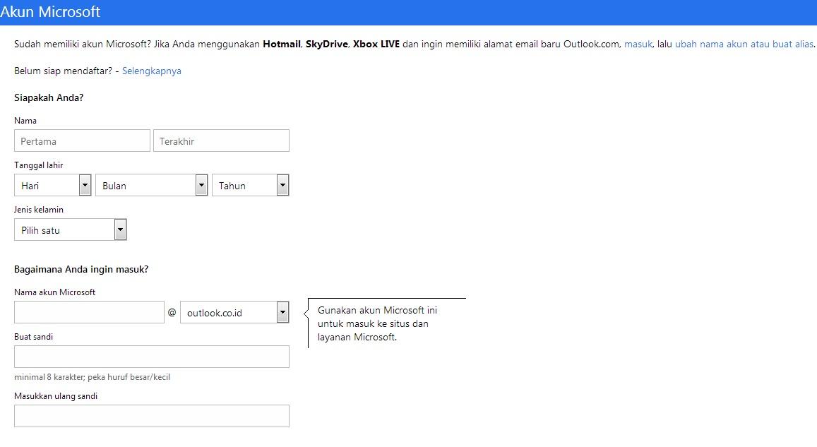 Image Gallery of Cara Daftar Akun Microsoft Terbaru 2013 Youtube