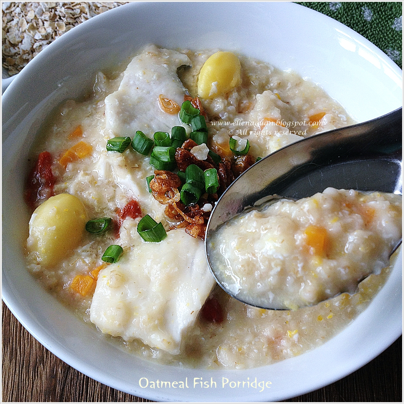 Cuisine paradise singapore food blog recipes reviews and travel this oatmeal fish porridge can act as a great idea for weekend brunch or you can even serve it for dinner too the idea of using fish slices is because i forumfinder Choice Image