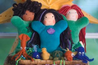 ocean, mermaid doll, bamboletta, tansy dolls