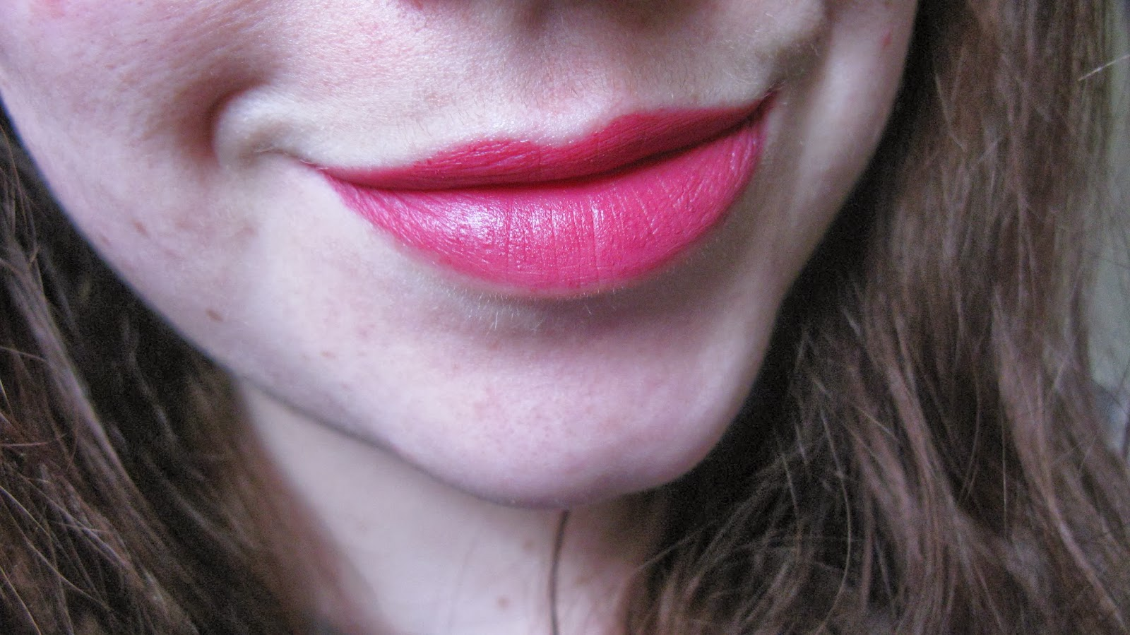 close up swatch of illamasqua magnetism on lips