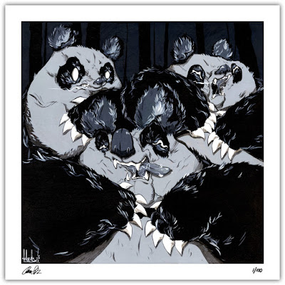 """In The Dark"" Giclee Print by Angry Woebots"