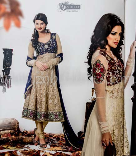 Zobi Fabrics Latest Party Wear Outfits Collection 2013 For girls Women 7 - Zobi Fabrics Latest Party Wear Outfits
