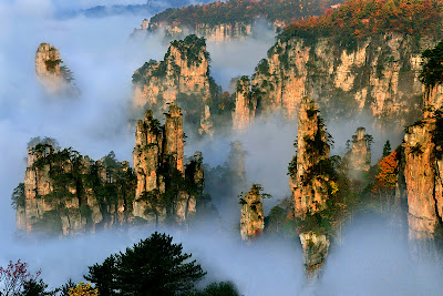 Tianzi mountains from a distance