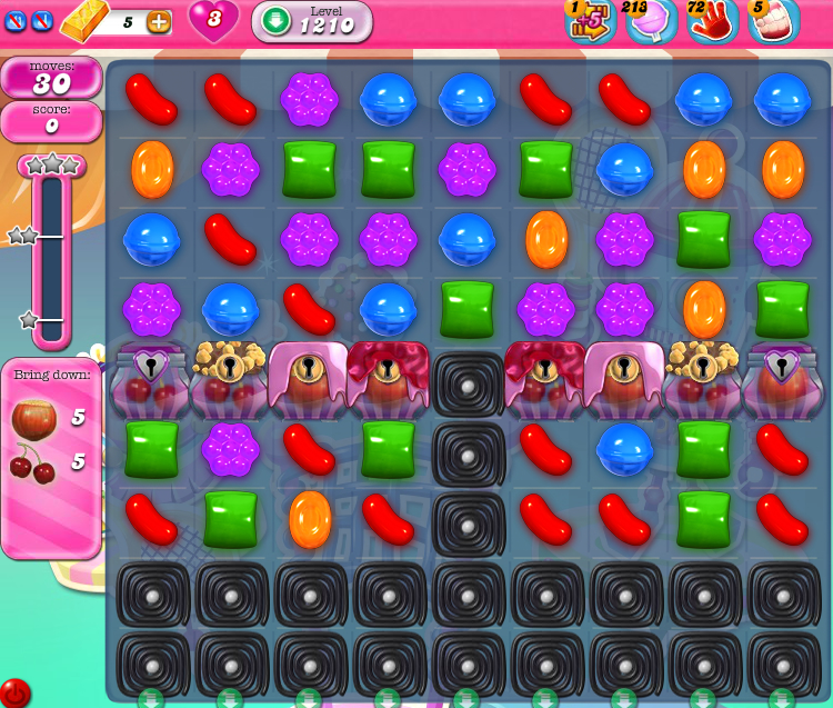 Candy Crush Saga 1210