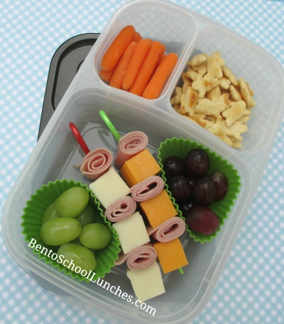 Ham and cheese kebabs, bento school lunches