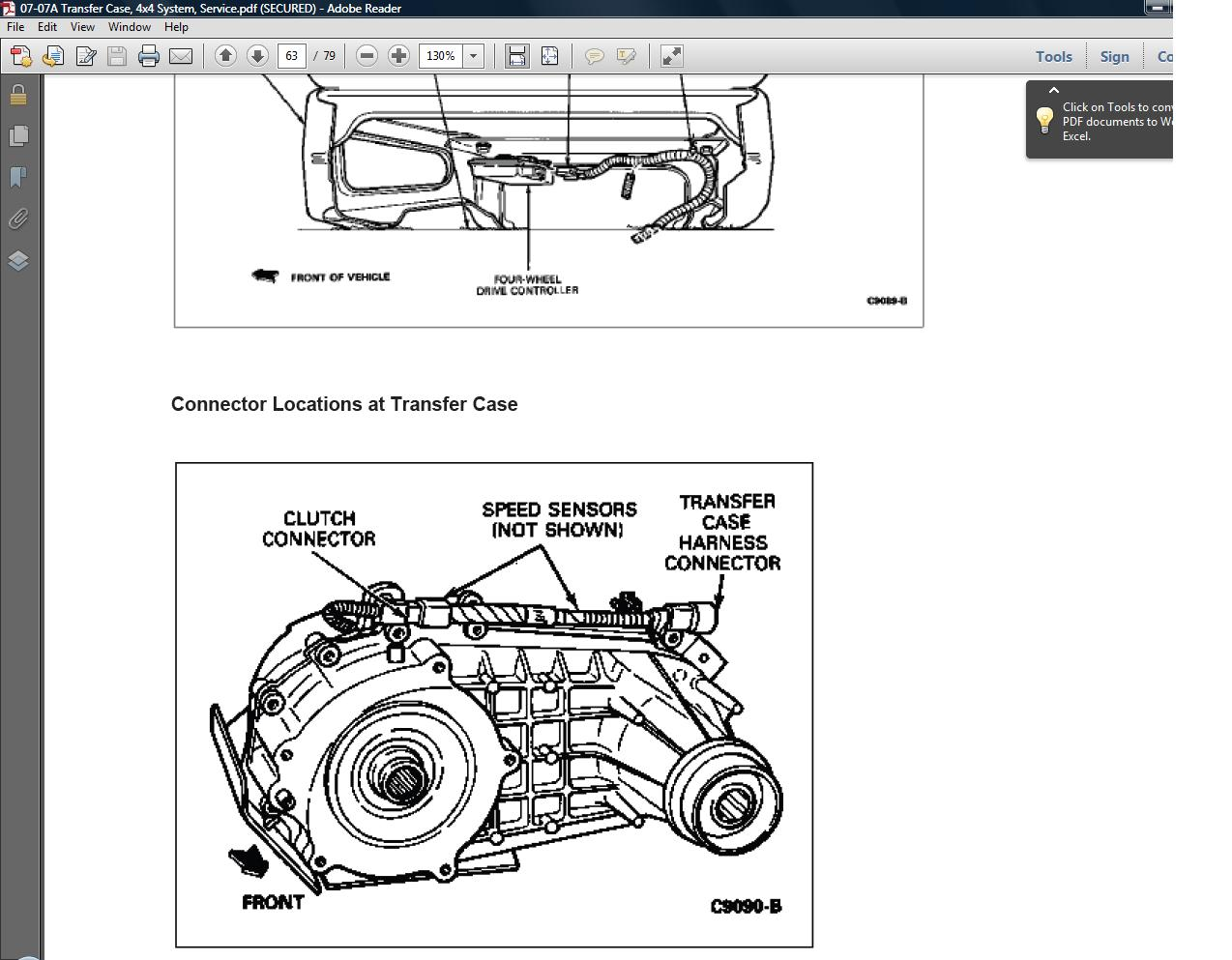 1993-94-95-96-97 Ford Ranger Transmission / Transfercase / 4x4 system Service  Repair Manual. >