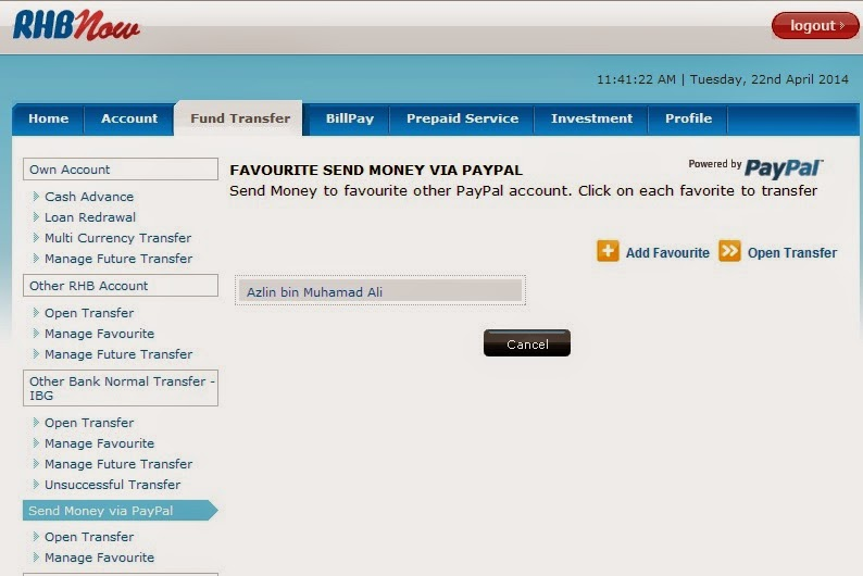 how to cancel signing up for paypal account