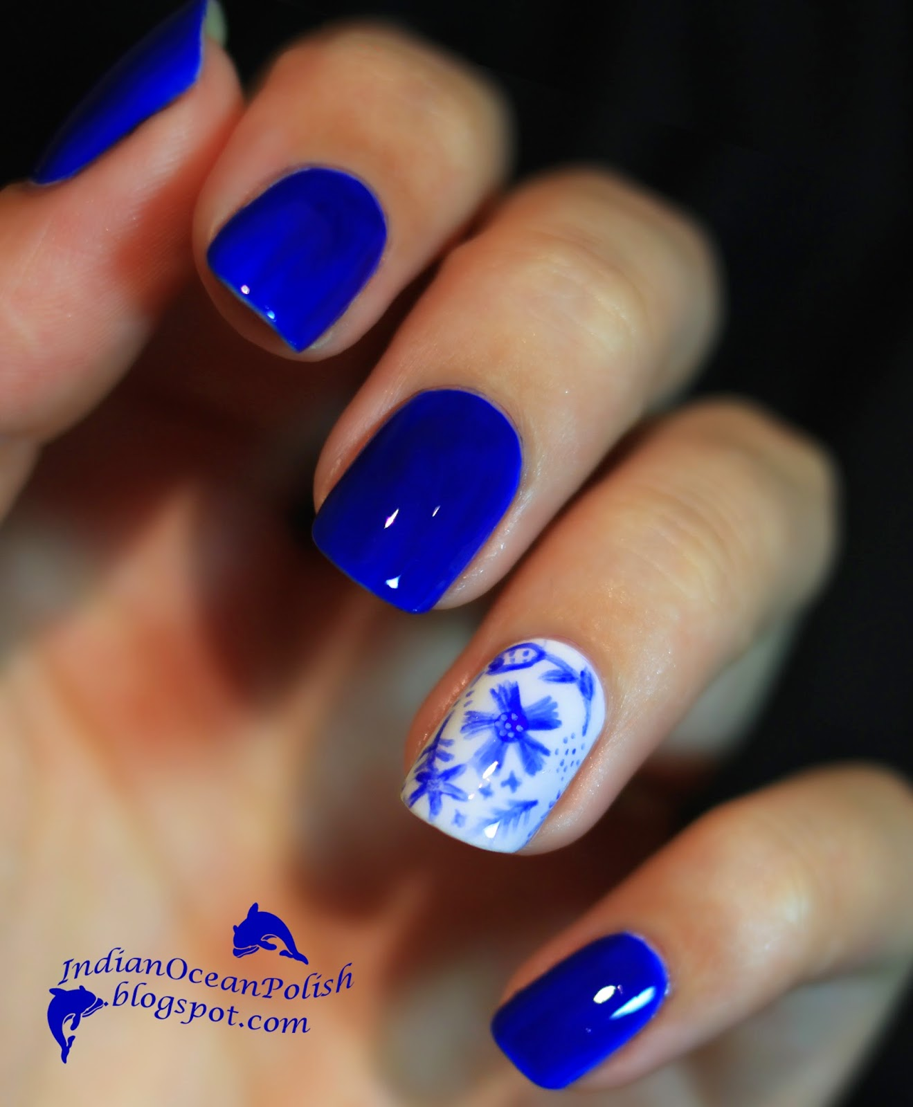 Indian ocean polish china porcelain nails indian ocean polish nail art by chanfie prinsesfo Gallery