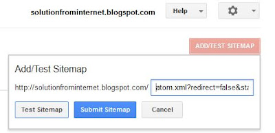 Submit Blogger or Blogspot Sitemap To Google Webmaster Tools
