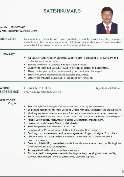 resume sample for dubai - dental vantage