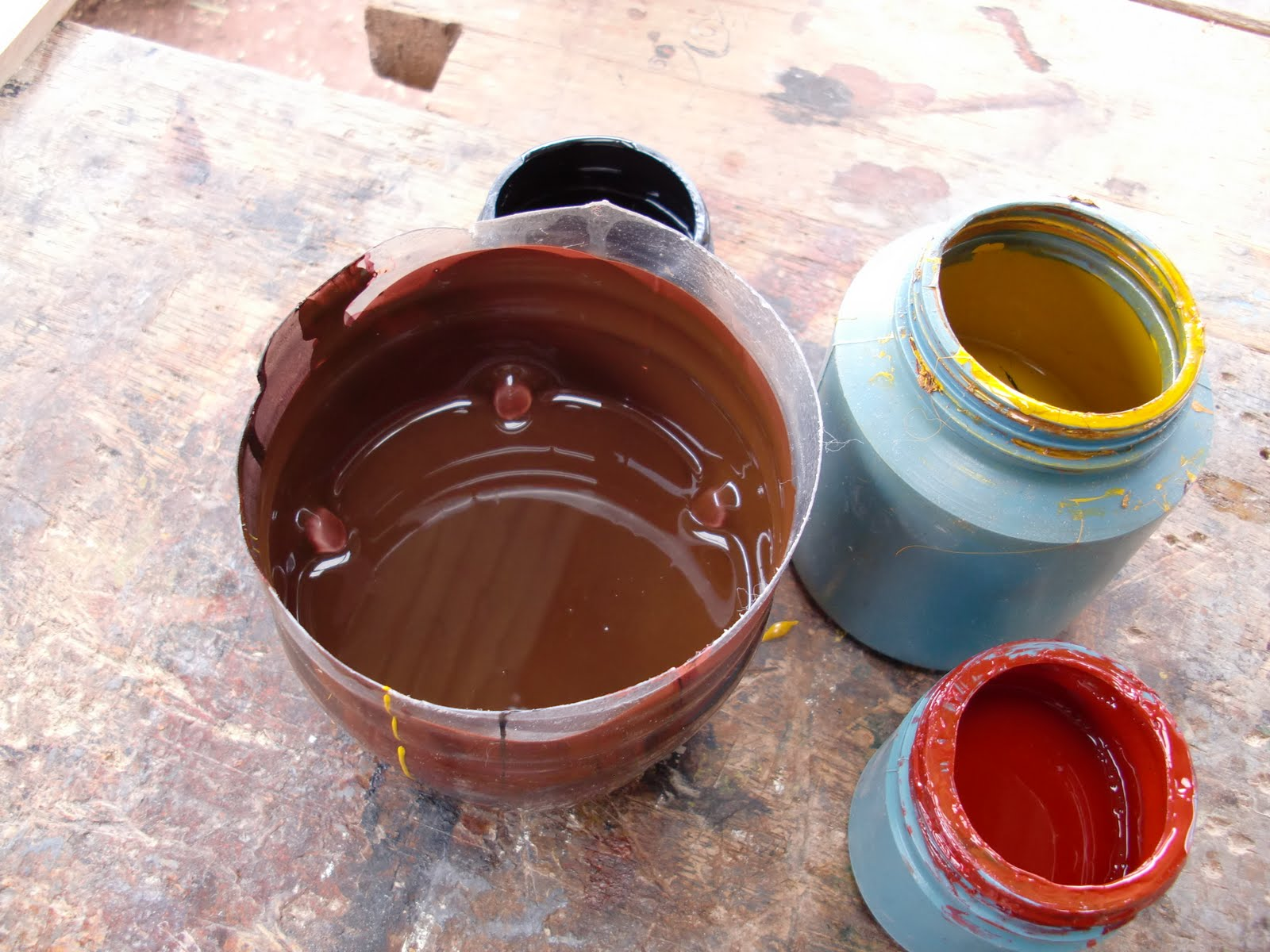 Decoraciones manualidades en madera mdf color chocolate for Como hacer el color gris en pintura