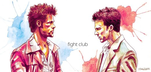 Fight Club Watercolor por theonlybriman