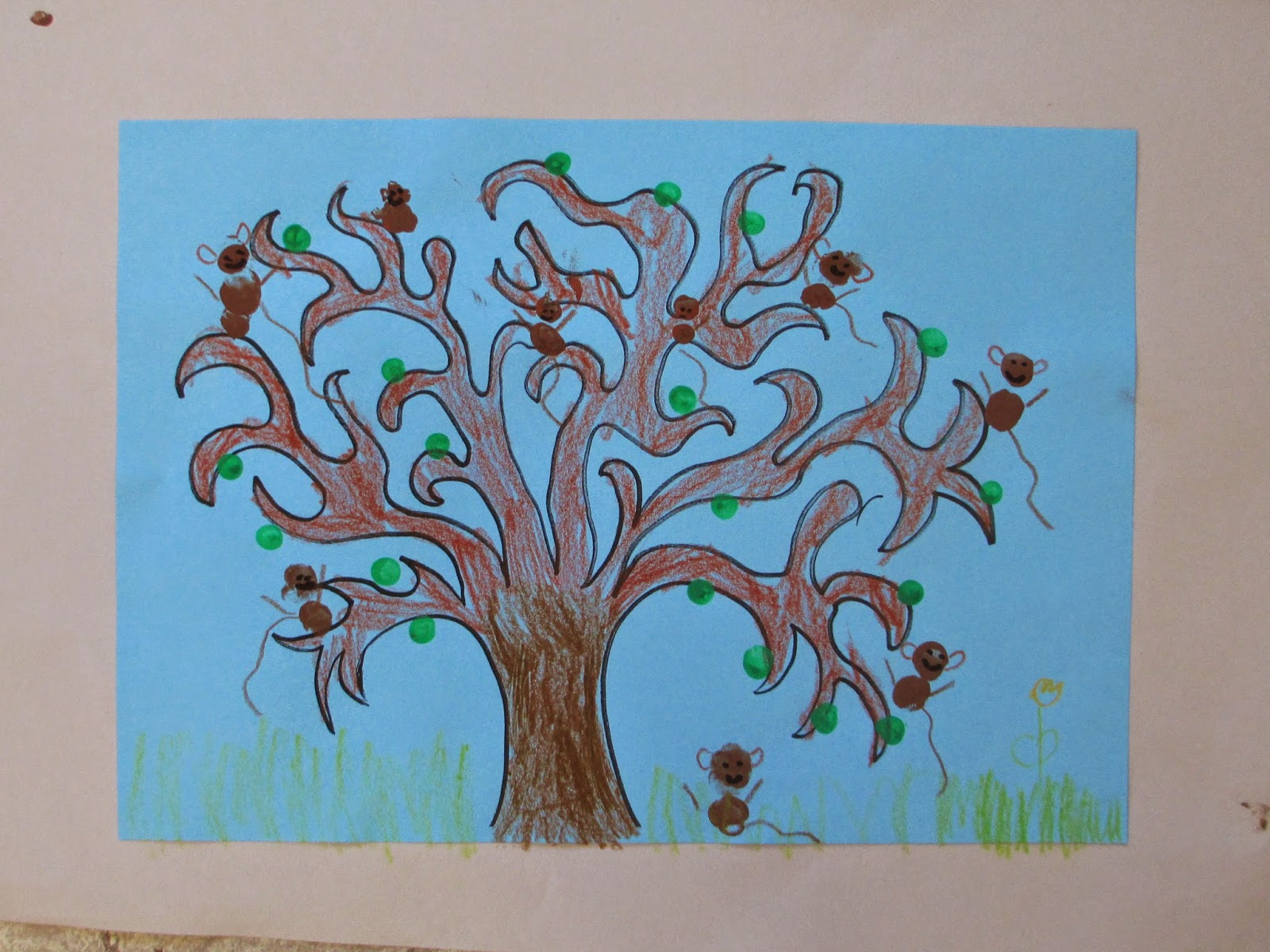 Affenbande zeichnen basteln mit Kindern