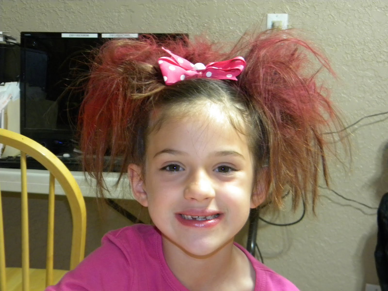 Easy Crazy Hair Day Ideas For Girls Leaving today: crazy hair day
