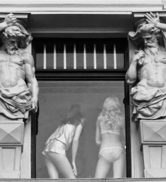 Tourist Posing Inappropriately with Statues  2