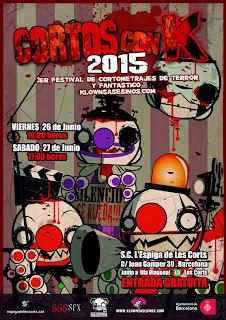 Cartel del festival Cortos con K 2015