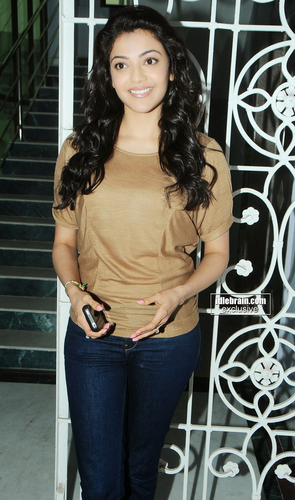 Kajal Agarwal blue jeans