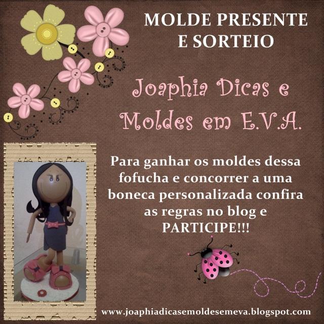 Sorteio blog Joaphia dicas e moldes em eva