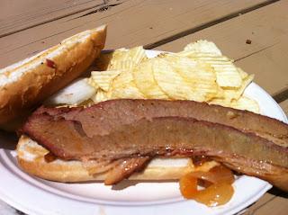 Scarborough Renaissance Festival BBQ Barbecue Bar-B-Q Barbeque Bar-B-Que Brisket Sandwich