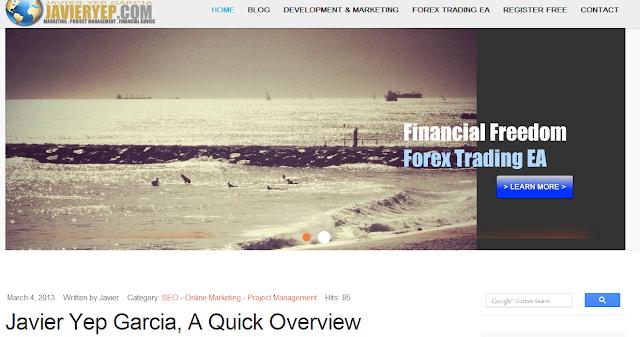 Javier Yep Garcia, JavierYep.com - Forex Trading EA