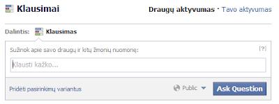 Facebook'o klausimai