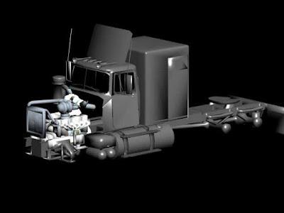 3dartpol Mackr Convy truck