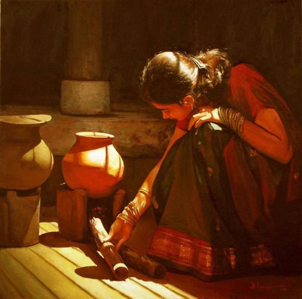 Paintings of Dravidian Women1