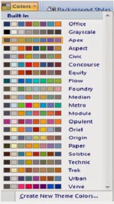tampilan jenis warna pada color scheme