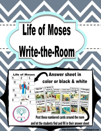 Bible Fun For Kids: Write The Room: Life of Moses