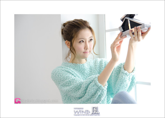 2 Choi Byeol Yee - Sweet Green Sweater-very cute asian girl-girlcute4u.blogspot.com