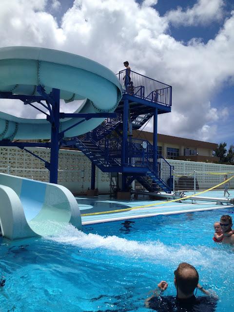 Entertaining eisenbergs kadena air force base swimming pool for Pool guy show