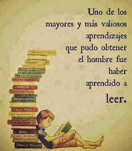 Aprendizaje más valioso leer