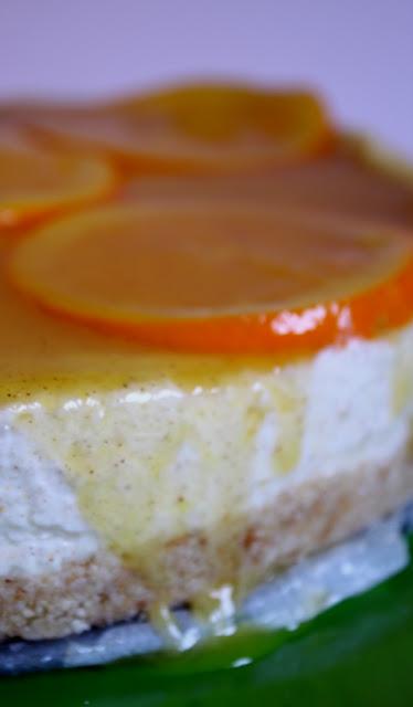 cheesecake arancia e cannella per un pieno di vitamine