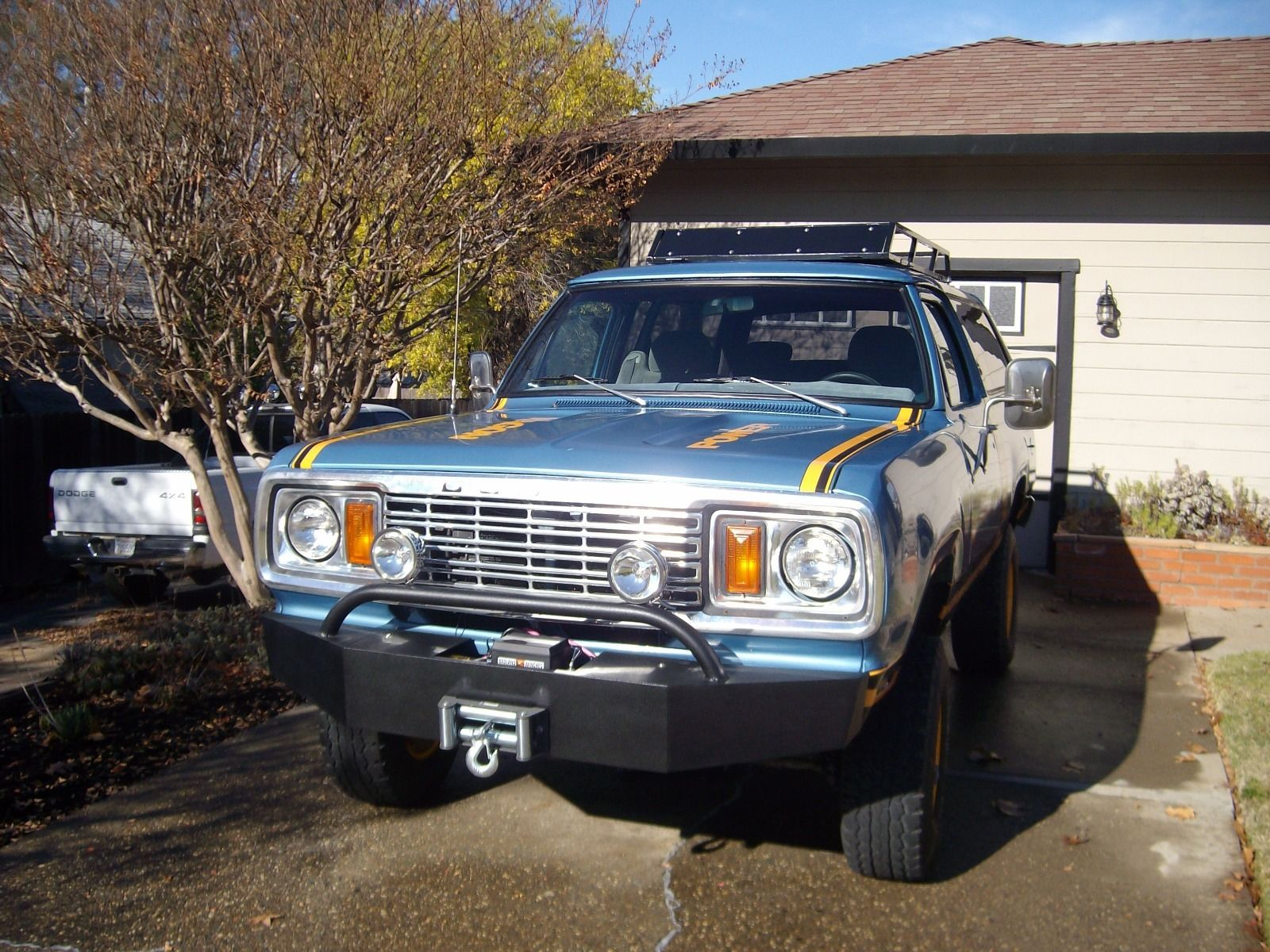 Massive bumper adds to the intimidation factor up front and houses a winch