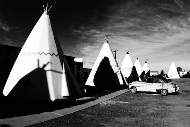 Route 66 attraction the Wigwam Motel in Holbrook, Arizona.