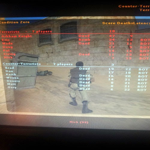 Playing Counter Strike Condition Zero: Day 41 of 100 Happy Days Challenge