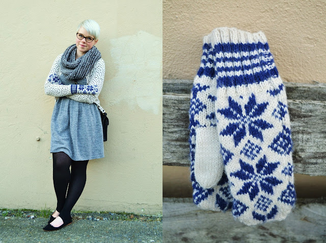 fleur d'elise, fair isle, winter, fashion, seattle, madewell dress, uniqlo