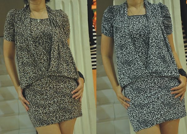 minidress leopard