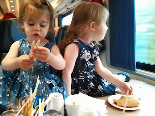 making mess on the train