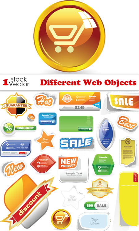 Different Web Objects - Vector