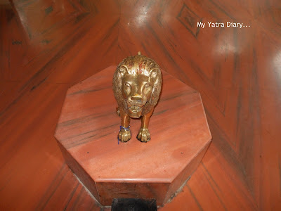 The Lion vehicle of maa Jagmata, Tungareshwar temple in Vasai, Mumbai