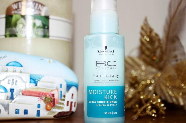 Schwarzkopf Bonacure: Moisture Kick spray conditioner. Schwarzkopf Bonacure hair products.